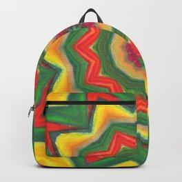 mandala yellow/green Backpack