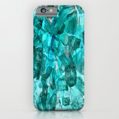 Turquoise Glass Chrystal Abstract iPhone 6s Slim Case