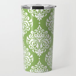 Green Damask Travel Mug