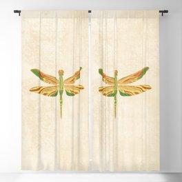 Antique Art Nouveau Dragonfly Blackout Curtain