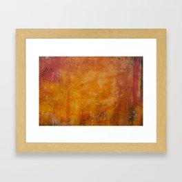 Abstract golden Autumn Framed Art Print