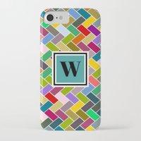 monogram iPhone & iPod Cases featuring W Monogram by mailboxdisco