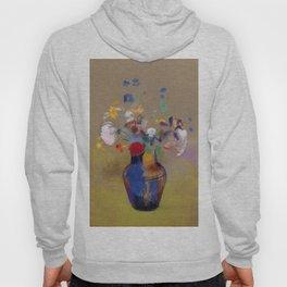 "Odilon Redon ""Flowers on a grey background (Fleurs sur fond gris)"" Hoody"