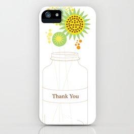 Mason Jar Thank You Cards iPhone Case