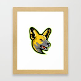 African Wild Dog Mascot Framed Art Print