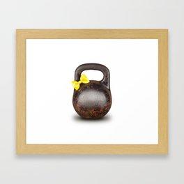 Funny large Kettlebell Framed Art Print