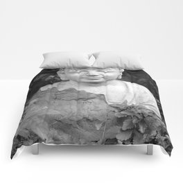 Buddha back and white Comforters