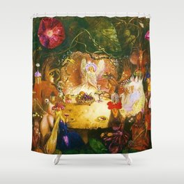 The Fairies Banquet Magical Realism Landscape by John Anster Fitzgerald Shower Curtain