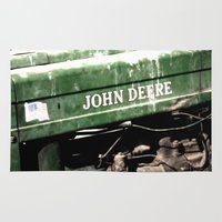 john green Area & Throw Rugs featuring John Deere by Captive Images Photography