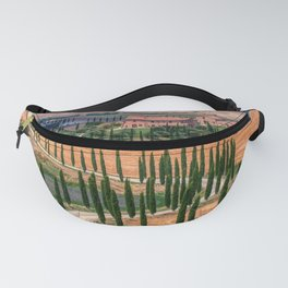 Cypress trees and meadow Fanny Pack