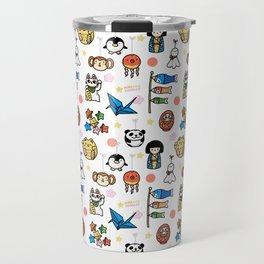Lucky Japan Doodle Travel Mug