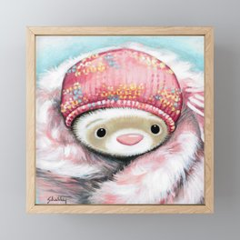 Winter Princess Framed Mini Art Print