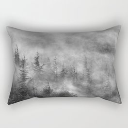 Misty forest. BW Rectangular Pillow