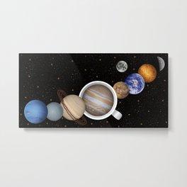 Coffee in Space 2 Metal Print