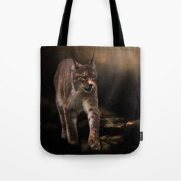 Into The Light - Lynx Art Tote Bag