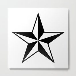 Nautical Star Metal Print