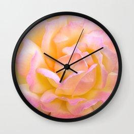 Pink & Yellow Rose Wall Clock
