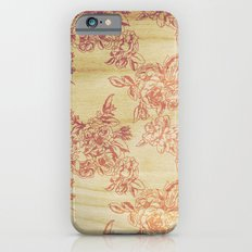 Cabbage Roses - Wood Slim Case iPhone 6s