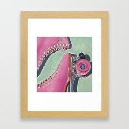 """""""Pink Skate"""" Framed Art Print"""