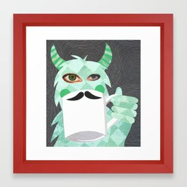 Movember Monster. Framed Art Print