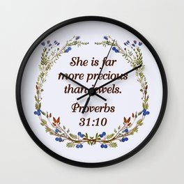 Bible Verse Wall Clocks | Society6