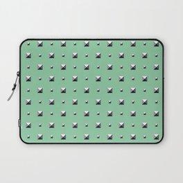 Studded Double Polka stud on Mediterranean Mint 1 Laptop Sleeve