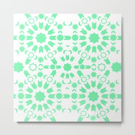 Mint Arabesque Metal Print