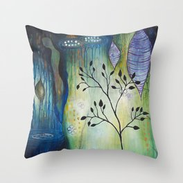 Reflection of Beginnings Throw Pillow