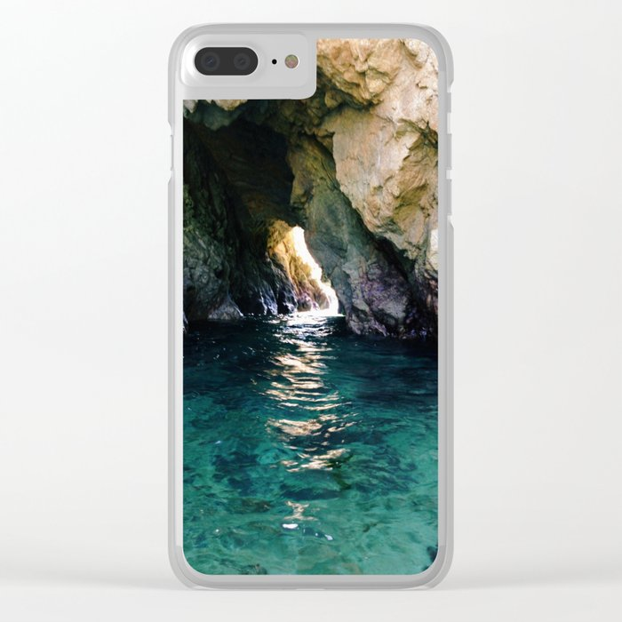 Colorful Ocean Cave Clear iPhone Case