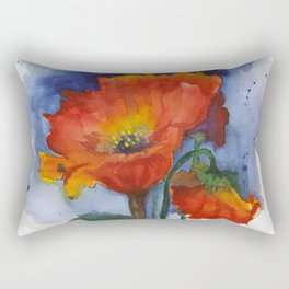 Flowers  Emerged Rectangular Pillow