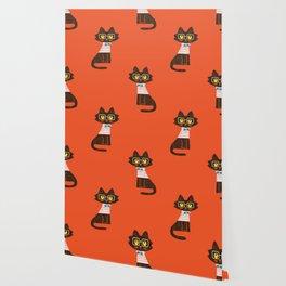 Fitz - Preppy cat Wallpaper