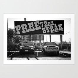 Free Steak Art Print
