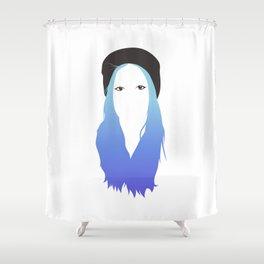 Blue Vector Shower Curtain