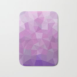 Ultraviolet Low Poly Bath Mat