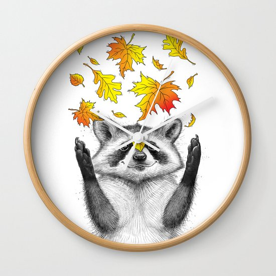autumn raccoon by nikitakorenkov