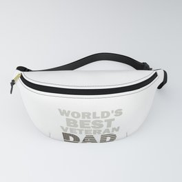 Father World's Best Veteran Dad Father's Day Gift Fanny Pack