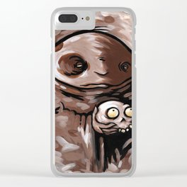 Evil Powers Clear iPhone Case