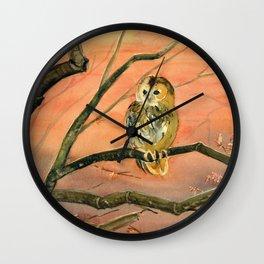 Colorful Owl Art Wall Clock