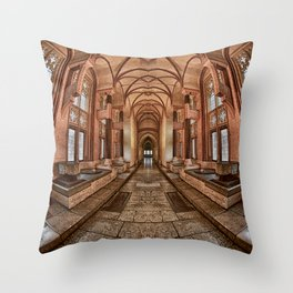 Inside the Polish Castle Throw Pillow
