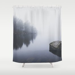 Morning blues Shower Curtain