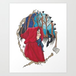 Red Riding Hood. Art Print