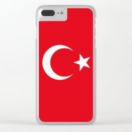 National flag of Turkey, Authentic color & scale Clear iPhone Case