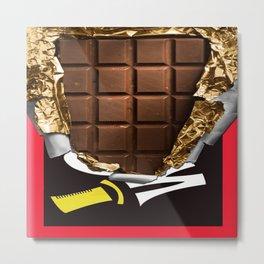 Wonka Chocolate Bar Metal Print