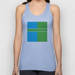 Team Color 6...Light blue,green Unisex Tank Top