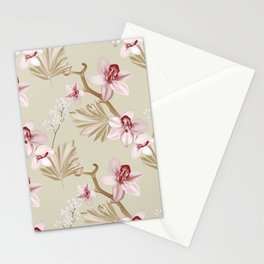 Orchid realistic print Stationery Cards