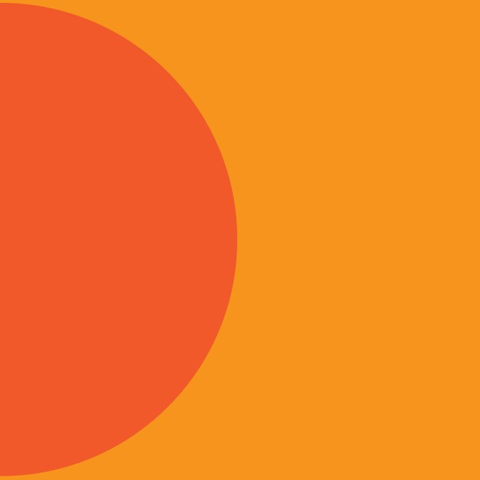 Orange Rising Duvet Cover