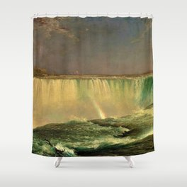 Niagara Falls Portrait by Frederic Edwin Church Shower Curtain