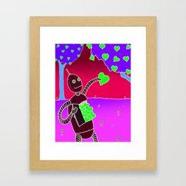 Love Bot Framed Art Print