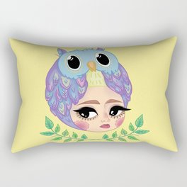 Owl girl Rectangular Pillow
