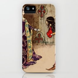 Bowing to the princess iPhone Case
